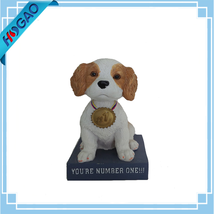 Cartoon Bobble Head Figurine Resin Crafts Dog Bobble Head