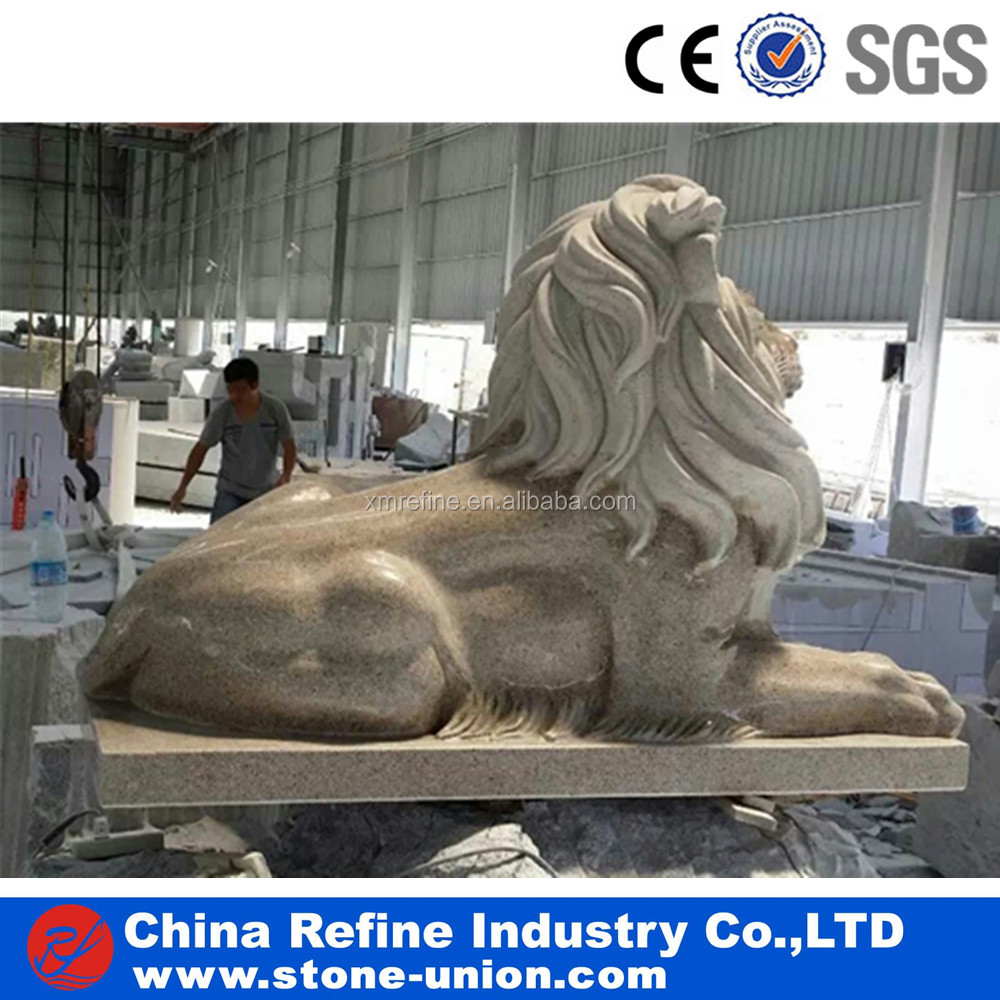 Marble & granite lion statues stone carvings and sculptures