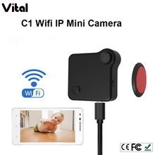 2017 newst Mini Camera HD 720P C1 IP Wifi Wearable Mini Micro Camera Motion Sensor Bike Body Camera With Magnetic Clip Mini DV