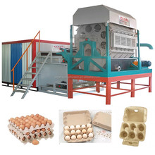 Waste paper as raw material for making small paper egg carton tray machine