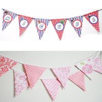 paper Custom Triangle Pennant Flags Party Triangle Flags hot selling string bunting flag