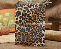 Fashion leopard style suit for IPAD mini covers, leather case for ipad