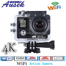 Factory sport pro action cam 4k video camera dual screen with wifi and remote control