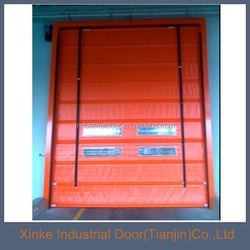 PVC fabric Door curtain and stacking Open Style High Speed STD-026
