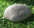 Dog, Small Engraved River Rock Memorial