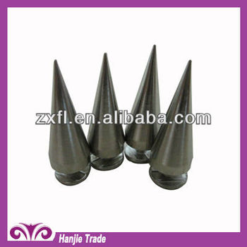 Flat Cone Head Punk Spike with Silver Plating for Garments