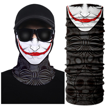 Neck Warmer Gaiter Tubular Bandana Scarf Clown Face Shield