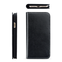 Multi functional genuine leather wallet card holder mobile phone case for iPhone 8