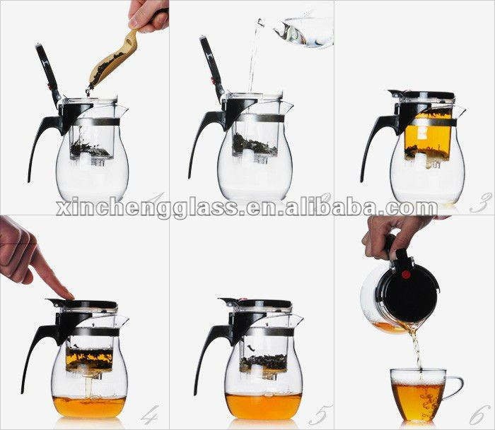 manufacturer High quality Fashion exquisite Borosilicate glass teapot set