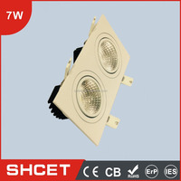 2016 CE CB ROHS CET-074S02 2X7W epistar led downlight review katalog lampu downlight led