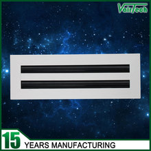 Aluminum alloy linear slot home air ventilation system