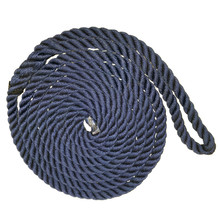 "Navy blue 1/2"" x 20' Nylon Twist Dock Line For Ship Mooring Rope"