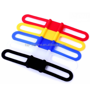 Wholesale cheap silicone colorful multi-function bind silicone straps