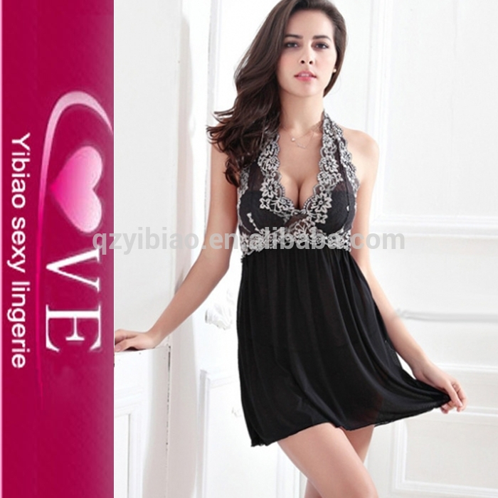 Nude Lover Midnight Temptaion Lace Embroidery Sexy Teddy Babydoll Sleepwear