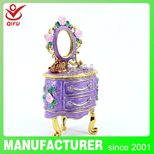 Antique dressing table wedding metal craft trinket home decoration gift souvenir(Q3839)