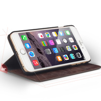 QIALINO New Genuine Leather Wallet w/stand Case Cover For iPhone 6 6s plus 5.5inch