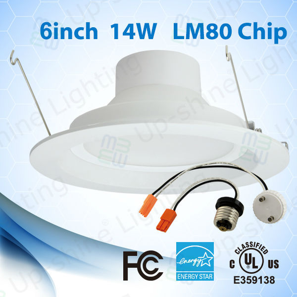 2017 new designed 14W LED downlight recessed dimmable 6 inch ES & UL & cULqualified