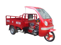 New cargo tricycle, three wheel motorcycle with cabin