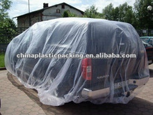 Automatic disposable waterproof plastic car cover
