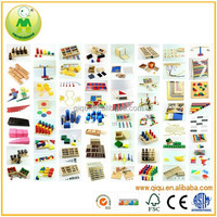 Beech Wood Kindergarten furniture Montessori Educational Toys 88pcs Montessori Set