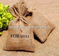 2013 Best-sell eco-friendly promotional drawstring jute bag