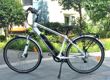 economic 700CC city ebicycle with hidden Samsung battery