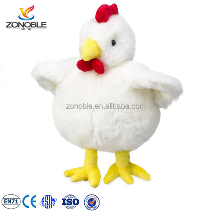 2016 stuffed animal toy white hen promotional cute plush chicken toy