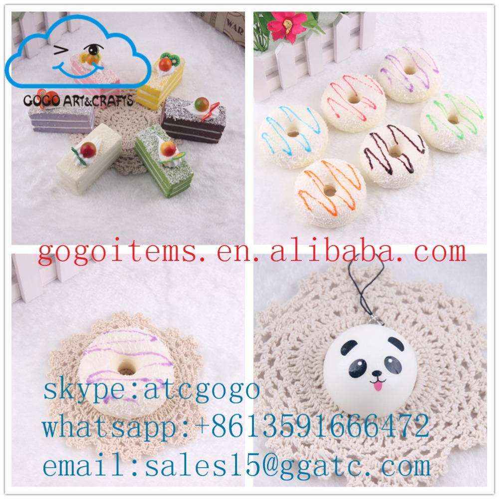 plastic squishy mini food/animal model