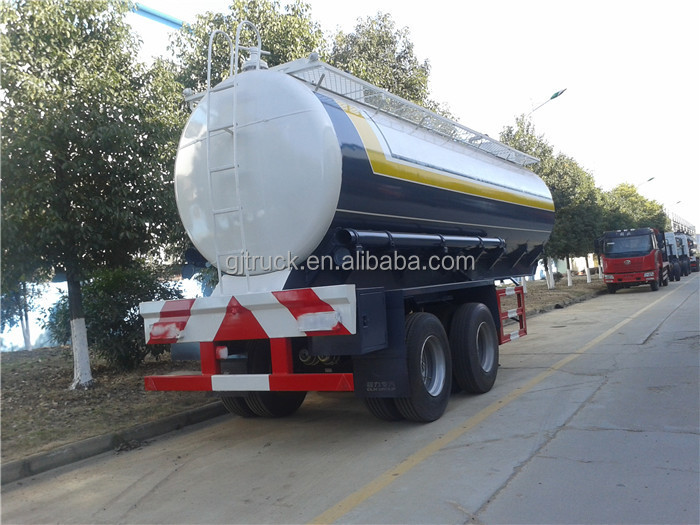 Factory direct selling oil semi-trailer 2 axles Hydrochloric acid Transport mobile fuel trailers