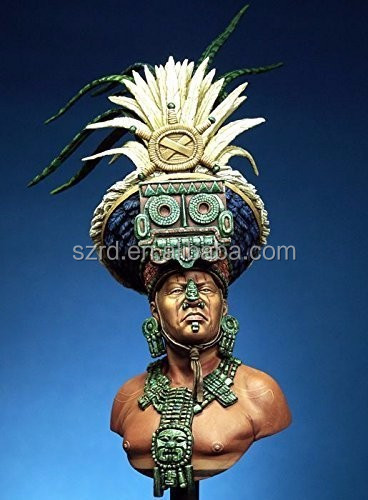Models Mayan Priest Resin Bust Kit/resin action figure hot sale