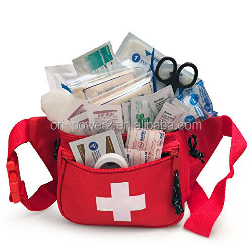 OP FDA CE ISO approved first aid fanny pack first aid kits waist bag stocked with emergency supplies