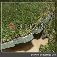 Sunwing wholesale mosaic fake grass outdoor decoration