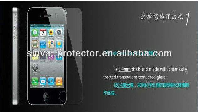 for iphone 5s/5c 9H explosion proof tempered glass screen protector