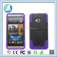 Factory Price Custom Kickstand Combo Case For HTC One M7