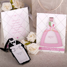 His and Her Bride and Groom Design Luggage Tag Wedding Souvenirs