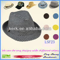 LSF23 2015 Fashion Jazz Caps Fedoras Straw Adult Summer Sun Hats for Men Beach Floppy Panama