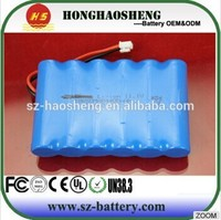 Customized 18v cordless drill battery 2600mah lithium ion battery pack 5s1p with pcm and connector