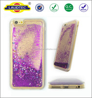 Clear Liquid Case for iPhone 6/6S,Flowing Bling Stars Hard Transparent Liquid Case for iphone 6/6s