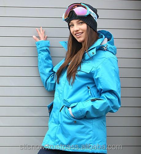 2014/2015 High quality waterproof 20000mm snowboard jacket, STL Beat BlueJewel