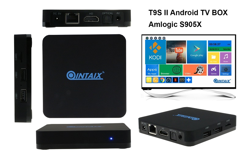 QINTEX T9SII Android 6.0 universal cable set top box for smart home supporting Ultara 4k high definition