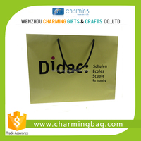 paper shopping bag with cotton rope handle wholesale
