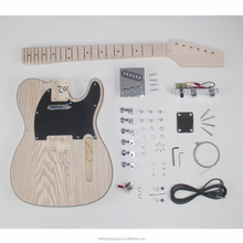 Datang China solid wood electric high quality unfinished guitar kit