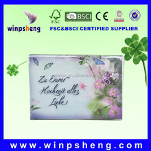New design korea wedding invitation card with flower