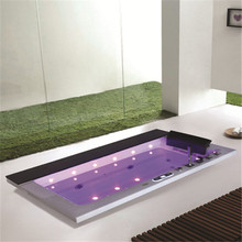 Low price small luxury bathtub with LED Light