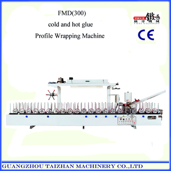 PVC film Profile Wrapping Machine with cold glue