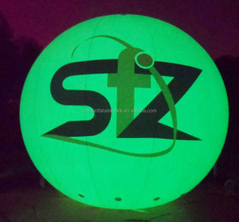 giant inflatable led light sphere balloon for advertising