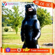 Amusement Park Lifelike Fiberglass powerful animals statue black bear