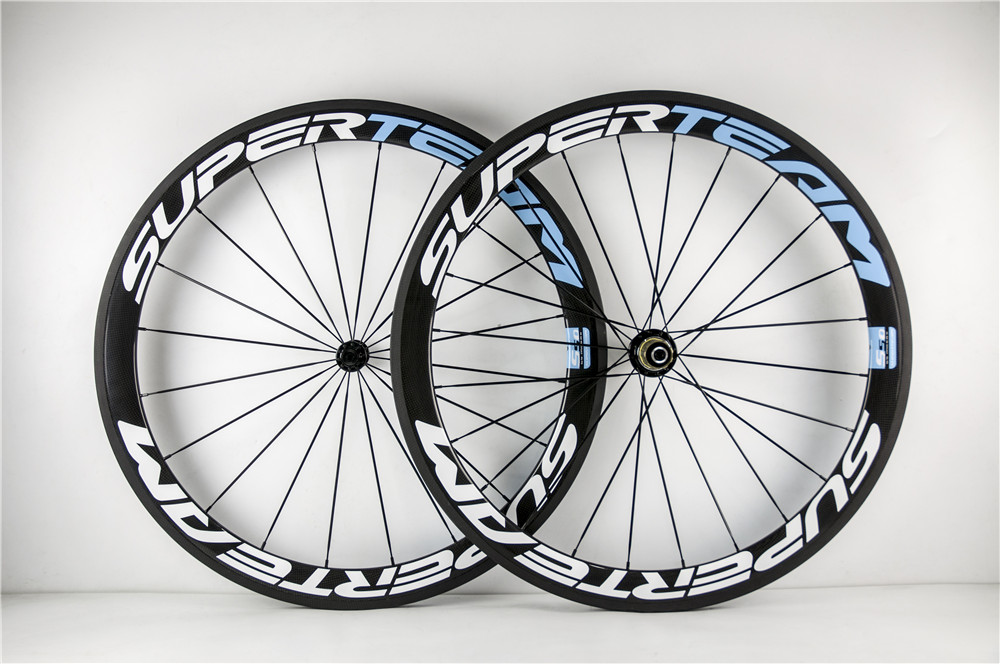 2016 SUPERTEAM carbon wheels 3K glossy 50mm high-profile carbon wheelset with R13 hub