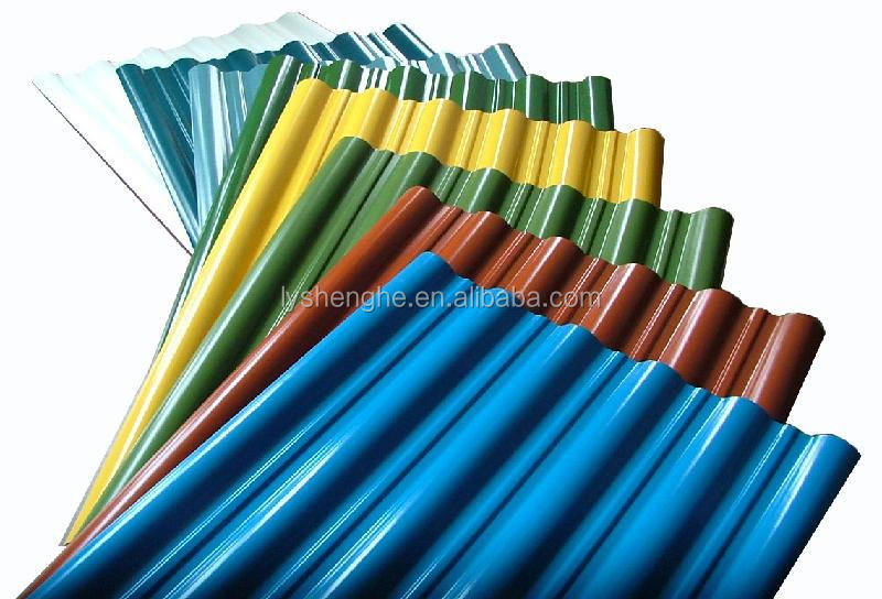 colorful stone coated metal corrugated magnesium oxide roof tile