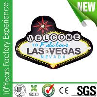 Factory direct sale USA Las Vegas LED light flashing lapel pin badges